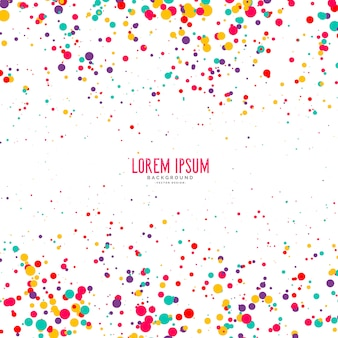 Kleurrijke confetti stijl cirkel achtergrond