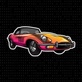 Kleurrijke converteerbare auto