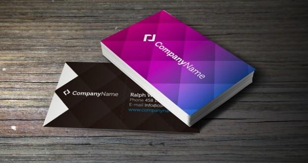 Kleurrijke corporate business card