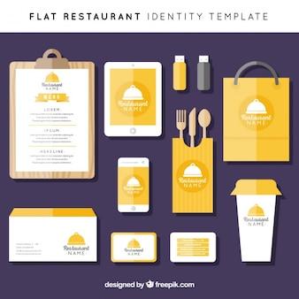 Kleurrijke corporate identity in vlakke stijl