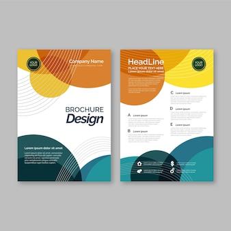 Kleurrijke cover sjabloon concept