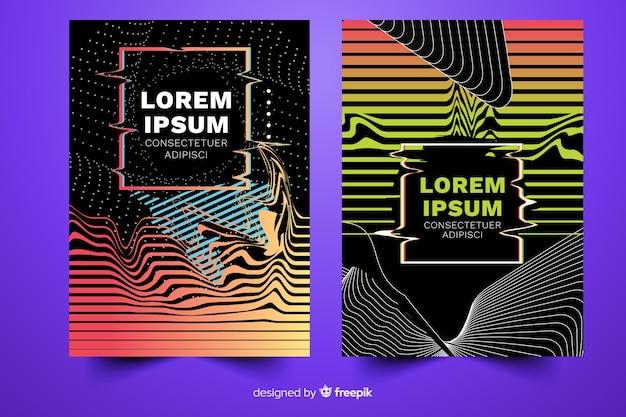 Kleurrijke covers met glitch effect