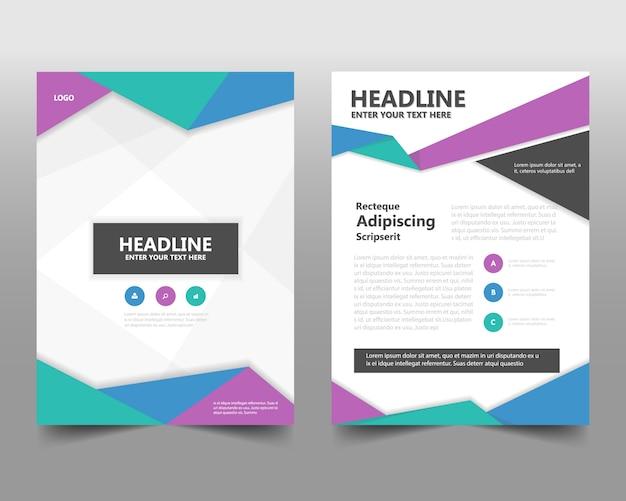 Kleurrijke creatieve jaarverslag boekomslag sjabloon