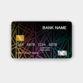Kleurrijke creditcard vintage stijl.