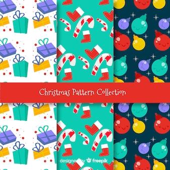 Kleurrijke de decoratiepatronen van kerstmis