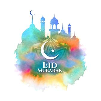 Kleurrijke decoratieve ramadan kareem-festivalkaart
