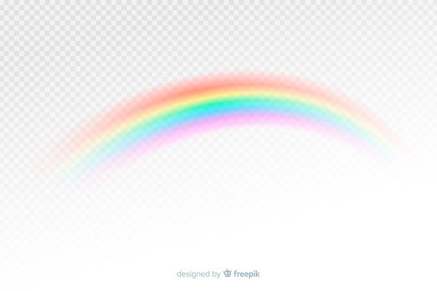 Kleurrijke decoratieve regenboog realistische stijl