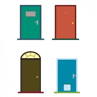Kleurrijke deuren