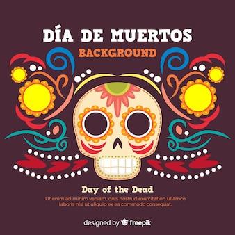Kleurrijke día de muertos achtergrond