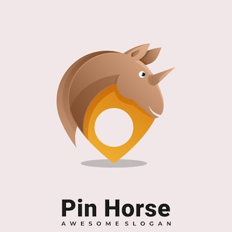 Kleurrijke dieren paard logo illustratie vector sjabloon