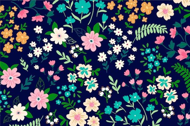 Kleurrijke ditsy bloemenachtergrond