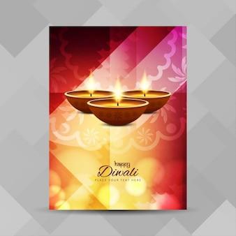Kleurrijke diwali festival folders