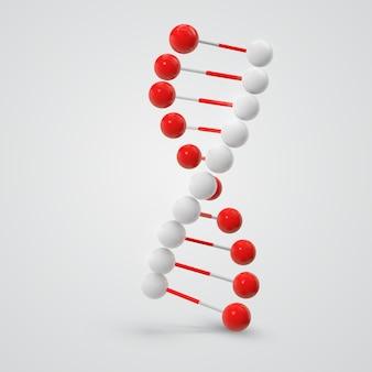 Kleurrijke dna-molecule die op wit wordt geïsoleerd