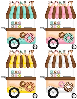 Kleurrijke donut cart