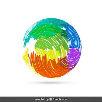 Kleurrijke doodle logo