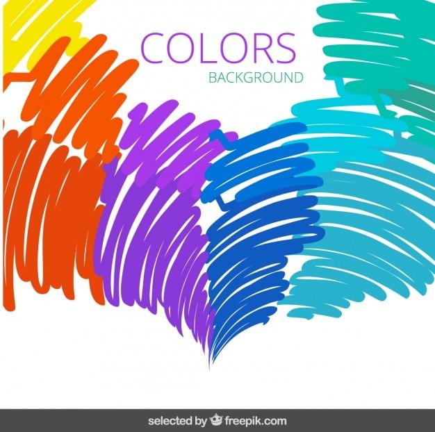 Kleurrijke doodling achtergrond