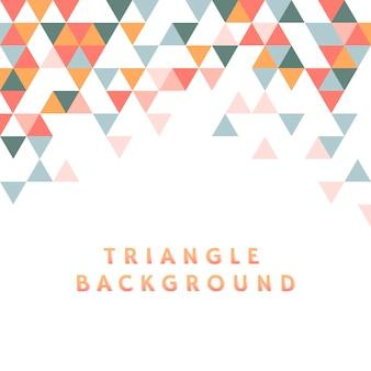 Kleurrijke driehoek patroon illustratie