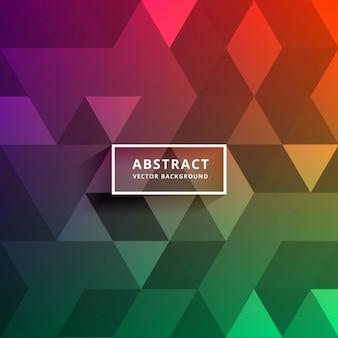Kleurrijke driehoek vormen patroon ontwerp achtergrond