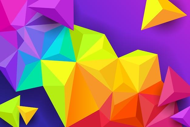 Kleurrijke driehoeksachtergrond