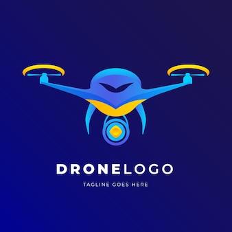 Kleurrijke drone logo sjabloon