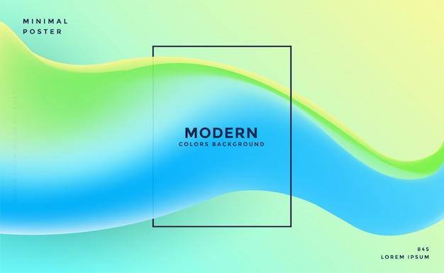 Kleurrijke dynamische vloeiende golf abstracte achtergrond