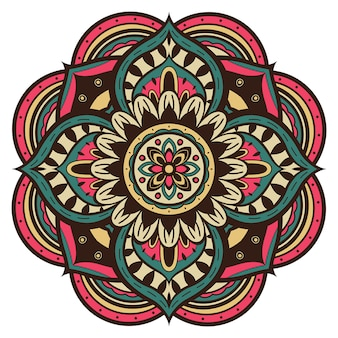 Kleurrijke eenvoudige mandala.