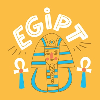 Kleurrijke egipt stad belettering