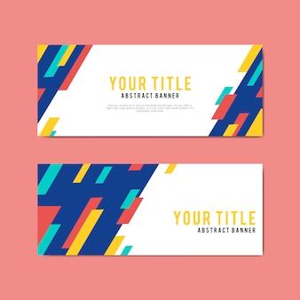 Kleurrijke en abstracte banner ontwerpsjablonen