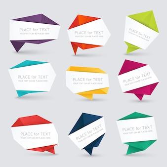 Kleurrijke en gedecoreerde papieren banners