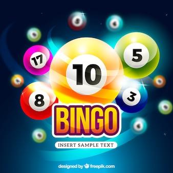 Kleurrijke en heldere bingo achtergrond