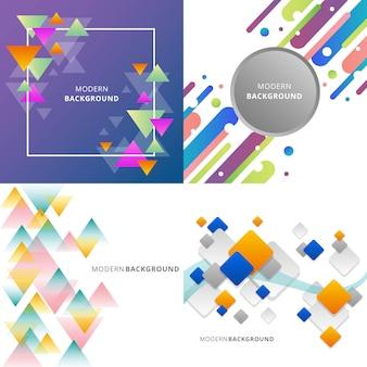 Kleurrijke en moderne abstracte achtergrond illustratie