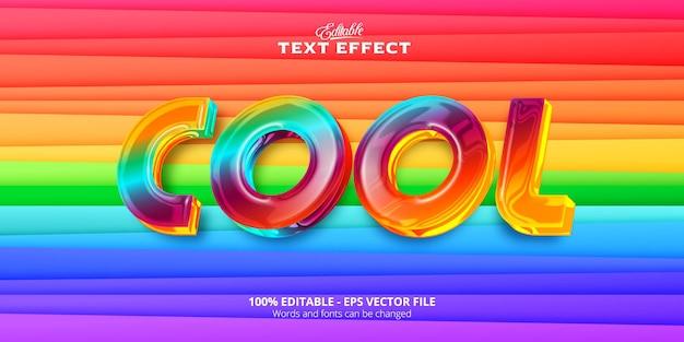 Kleurrijke en plastic stijl, realistisch bewerkbaar teksteffect, coole tekst