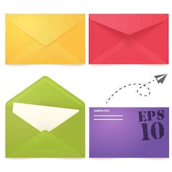 Kleurrijke envelop