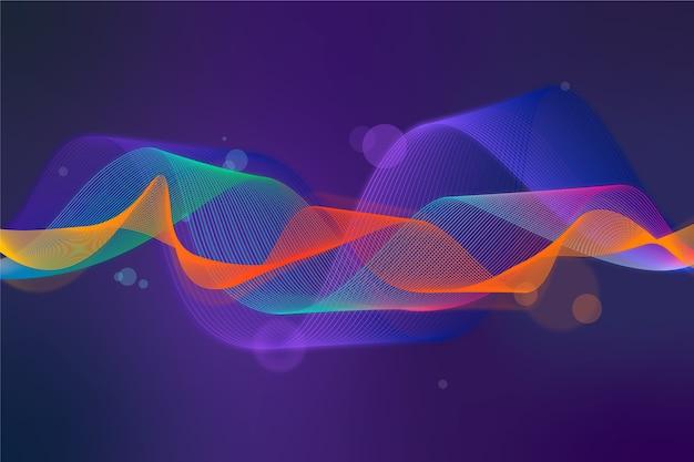Kleurrijke equalizergolf screensaver