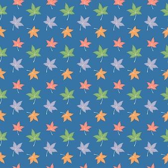 Kleurrijke esdoorn bladeren naadloze patroon achtergrond