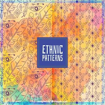 Kleurrijke etnische patroon