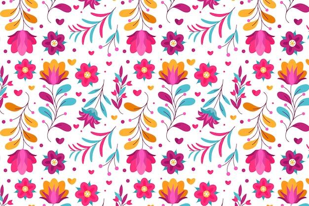Kleurrijke exotische bloemenachtergrond
