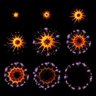 Kleurrijke explosie animatie concept