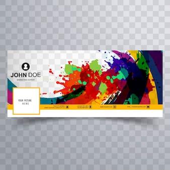 Kleurrijke facebook omslag