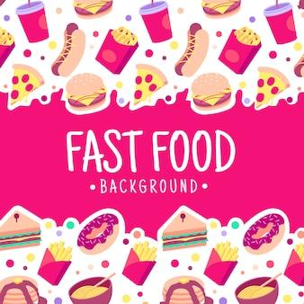 Kleurrijke fastfood achtergrond