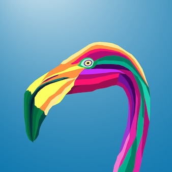 Kleurrijke flamingo