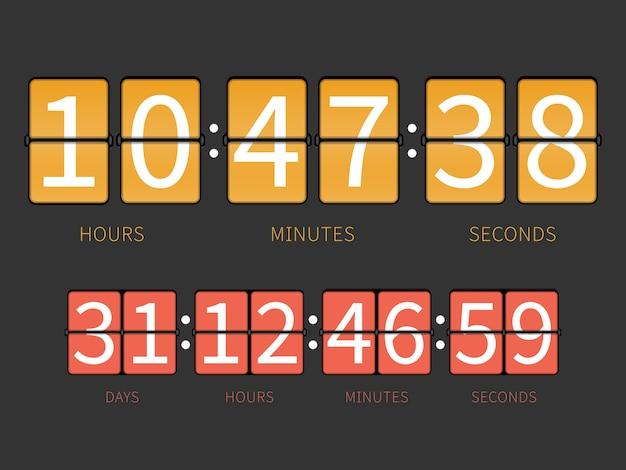 Kleurrijke flip countdown timer