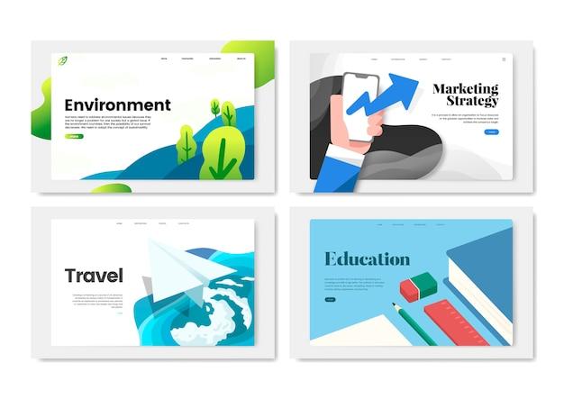 Kleurrijke flyer sjabloon ontwerp illustratie