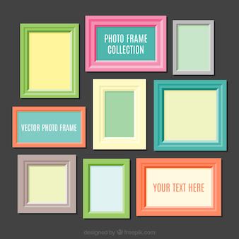 Kleurrijke foto frames collectie