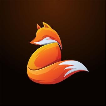 Kleurrijke fox-sjabloon