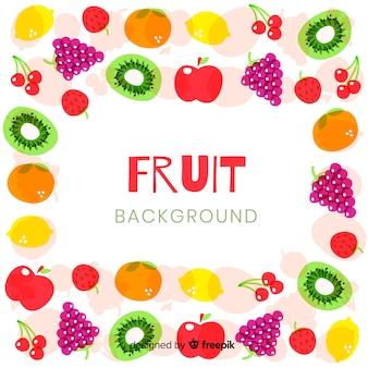 Kleurrijke fruitachtergrond