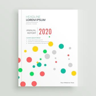 Kleurrijke funky brochure boekomslag met stippen