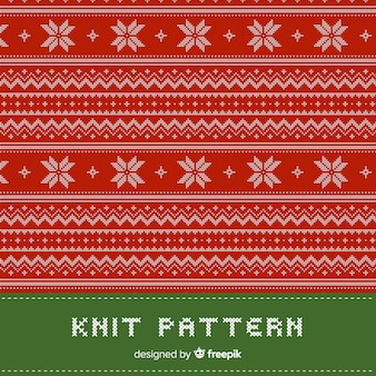 Kleurrijke gebreide kerst patroon collectie