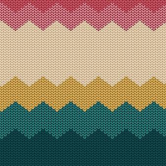 Kleurrijke gebreide naadloze patroonachtergrond met eenvoudige vormen