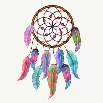 Kleurrijke geïllustreerde dromenvanger